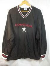 Vintage Converse Pullover Lightweight Shirt Usa Made Nylon Xl Black