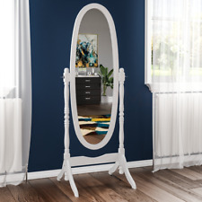 Cheval Mirror Full Length Free Standing Wooden Bedroom Furniture Black White