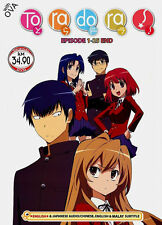 DVD Japanese Anime Toradora! TV 1 - 25 End + OVA Eng Dubbed Free Ship