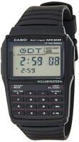 New CASIO Digital Watch Resin Band EAW-DBC-32-1AV DATA BANK Black From Japan