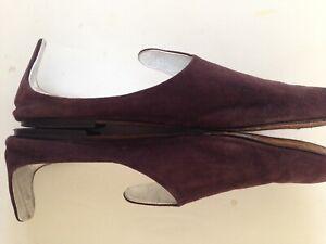 TAPEET VACINI Italy Brown Suede Avant Garde Slides Ballet Flats 38