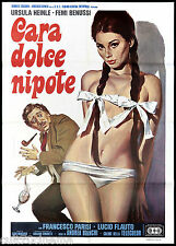 CARA DOLCE NIPOTE MANIFESTO CINEMA EROTICO HEINLE BENUSSI 1976 MOVIE POSTER 2F