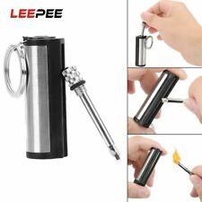 Key Chain Striker Lighter Permanent Cylindrical Match Permanent Stainless Steel