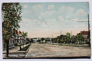 Old postcard BROADWAY, SOMERVILLE, MA 1908