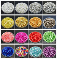 4mm 6mm 8mm 10mm Acrylic Round Pearl Spacer Loose Beads Jewelry Making Craft