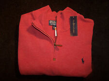 Polo Ralph Lauren French-Rib Half-Zip Pullover Sweater - TAGS - 2XL - ROSE -