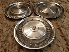 1971 71 1972 72  Cadillac Wheel Covers Hub caps gm oem Coup deville set of 3