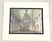 1983 Vintage Stampa The Inverno Palazzo Russia Nikolayevsky Camera Interno Vista
