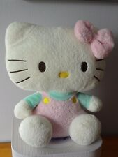 CHAT HELLO KITTY 30 CM  TY  2011 By SANRIO CULOTTE ET NOEUD ROSE  PELUCHE ECRUE