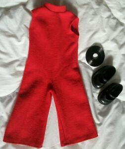 Tenue ancienne pour poupée Bella hi-fi marcheuse combinaison, chaussures, disque