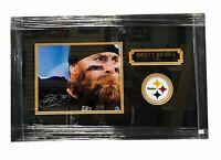 Pittsburgh Steelers Brett Keisel Signed Framed Auto 8x10 - TSE COA