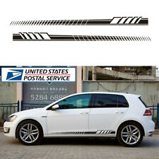 Pair Black Long Stripe Car Body Side Graphics Vinyl Decal Sticker Racing styling