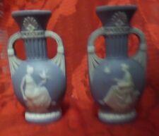 """VINTAGE Lot of 2 JASPERWEAR WEDGEWOOD Mini Urn Styled Vases - 3"""" Tall"""
