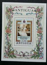 Antigua 80th Birthday Of H.M Queen Elizabeth II 1980 Royal Flower Rose (ms) MNH