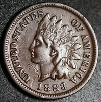 1883 INDIAN HEAD CENT - With LIBERTY - Near XF EF