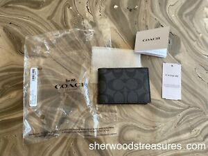 """COACH WALLET INSERT  NEW WITH TAGS LEATHER EXC 4 1/4"""" (L) x 3 3/4"""" (H) x 3/4"""" W"""