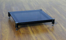 Beautiful VTI BLG404BB-01 Audio Black Tinted Glass Amp Stand, Brand NEW