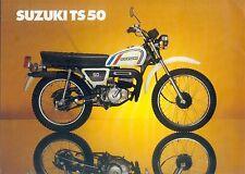 Suzuki TS 50 Enduro Bild Prospekt brochure Broschüre Motorrad Asien Japan bike