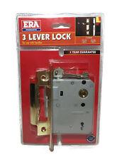 "ERA 3 Lever Lock 76mm (3"")  Dead Lock Deadlock Sashlock Brass Finish"