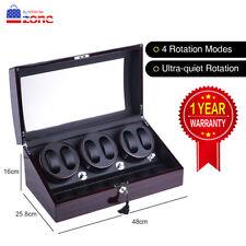 XTELARY 3 Motors Automatic Rotation 6+7 Watch Winder Storage Case Display Box US