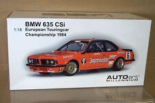 AUTOART 88446 1/18 1984 BMW 635 CSI COUPE EUROPEAN TOURING CAR STUCK 6 MIB nc