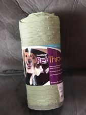 Pooch Planet Pet Throw Blanket for dogs or cats 30� x 40� Olive Green New
