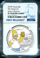 2019 The Simpsons Homer Simpson Proof $1 1oz Silver COIN NGC PF 70 FR