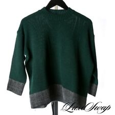 LNWOT CHUNKY Marni Made in Italy 85% Cashmere Green Grey Oversize Sweater 42 NR
