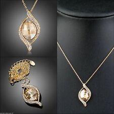 Gelbgold beschichtete Modeschmuck-Halsketten & -Anhänger aus Edelsteinen mit Tropfen
