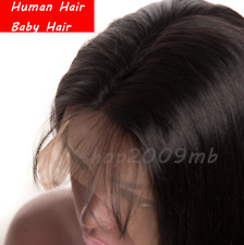 """26"""" Brazilian Straight Swiss Lace Front Hair Wigs Women Baby Hair Pre Plucked"""