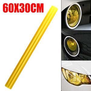 1pc Yellow Car Headlight Taillight Tint Vinyl Smoke Film Sheet Sticker 60x30CM