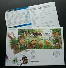 Wildlife 1996 Malaysia Birds Monkey Butterfly Civet Insect Bug (FDC) *dual PMK