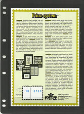 PRINZ FDC BLACK STAMP ALBUM STOCK SHEETS Pack of 10 - with 3 different Pockets