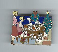 Disney HTF 101 Dalmatians Pongo Perdita Puppies Roger Anita Christmas LE 250 pin