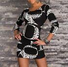 Tunique/Robe/Tee shirt long manches longues Taille S/M et M/L noir/blanc NEUF