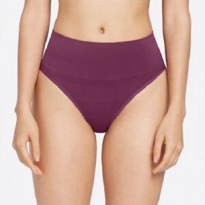 LADIES SHAPING THONG Yummie Tummie Jasmina Purple Size L/XL UK 12/14 NEW