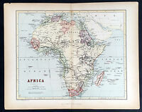 1860 W R Chambers Antique Map of Africa