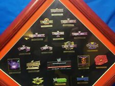 WWE/WWF 20 years of wrestlemania pin set commemorative framed NEW