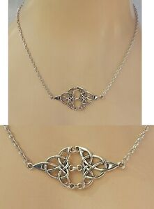 Celtic Necklace Knot Silver Jewelry Handmade NEW Fashion Women Chain Pendant