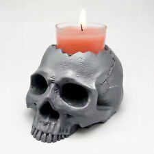 Home Party Decor 3D Skull Candlestick Silicone Mold DIY Concrete Resin Plaster