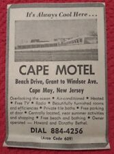 1964 Cape Motel - Cape May New Jersey Advertisement