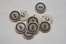 8pc 19mm Pewter Studded Edge Metal Blazer Cardigan Knitwear Button 3391