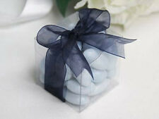 2*Bomboniere favor clear PVC box wedding party gift product 8cm cube macron cake