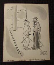 Vintage Charles Chas Sage 8x10 One Panel Gag Original Art B&W w/ Wash DREAM