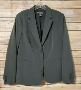 A Pea in the Pod Gray Blazer Jacket Maternity Large Stretch Button Up Career