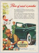 General Squeegee Car Tires '40s Gardener Ladies Tulips Automotive Print Ad 1948