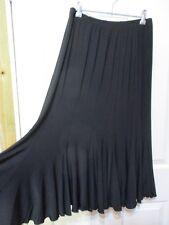 LADIES BLACK FLARED SKIRT SIZE 18 JK FASHIONS