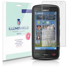 iLLumiShield Matte Screen Protector w Anti-Glare/Print 3x for Nokia C6-01