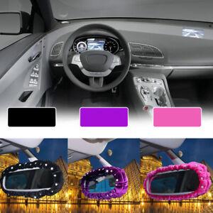 Car Interior Plush Diamante Cover Decor Rearview Mirror Cover Car Accessories