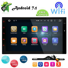 """7""""Android7.1 Double 2Din Car NO-DVD Player Radio Stereo Headunit GPS SAT NAV AUX"""